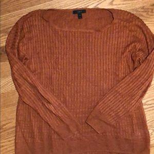 Orange j crew 100% linen sweater